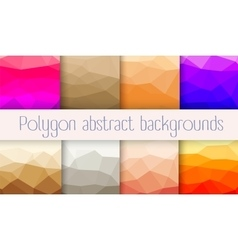 Set polygon abstrac vector image vector image