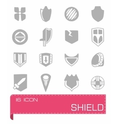 Shield icon set vector