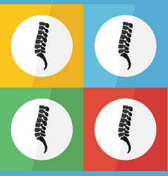 spine icon flat design vector image vector image