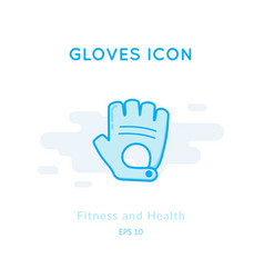 Sport gloves icon isolated on white vector