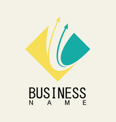 square arrow business logo vector image