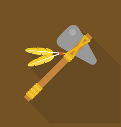 Tomahawk native american axe vector