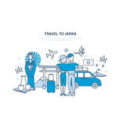 Travel to japan vacation acquainted with culture vector