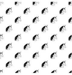 unicorn pattern vector image