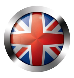 Flag metal glass europe united kingdom vector