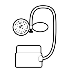 Tonometer pressure icon outline style vector