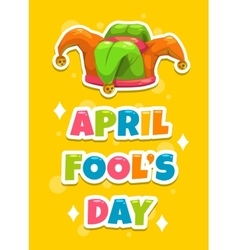 April fool s day greeting card template vector