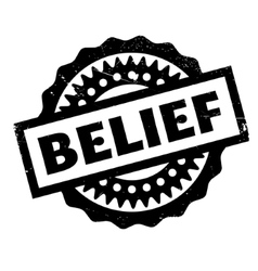 Belief rubber stamp vector