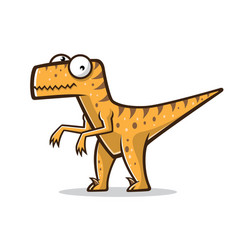 Cartoon funny raptor vector