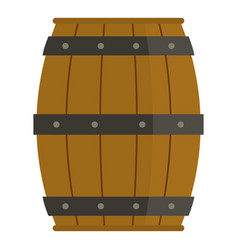 Wooden barrel icon isolated vector