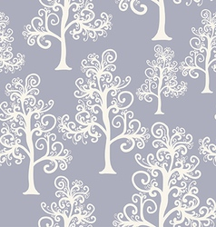 Seamless pattern of imaginative trees vector