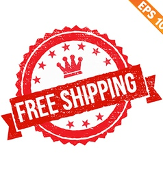 Rubber stamp free shipping - - EPS10 vector image
