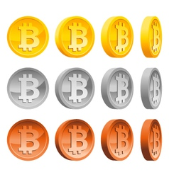Set of Bitcoins vector image