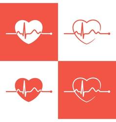 Cardiogram icons vector