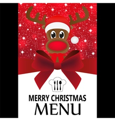 Christmas menu vector