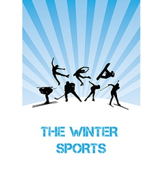 The winter sports team vector