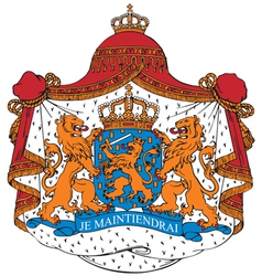 Ial image of coat of arms of netherlands vector
