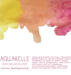 Watercolor background with text and signa vector