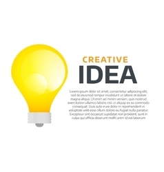 Bulb lamp light idea background vector