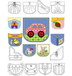 pocket vector image