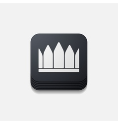 Square button crown vector