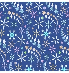 Seamless christmas pattern crystal light vector