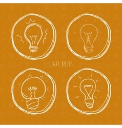 Light bulbs design vector