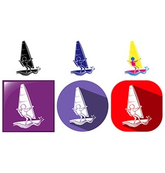 Sport icon design for sailing vector