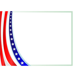 abstract american flag frame background vector image vector image