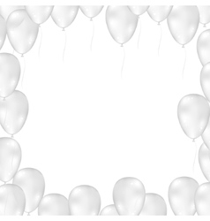 Balloons on white background vector image vector image
