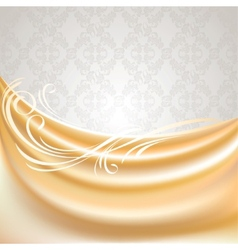 beige silk curtain vector image vector image