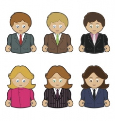 business men and women vector image vector image