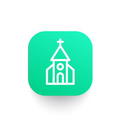Church icon in linear style vector