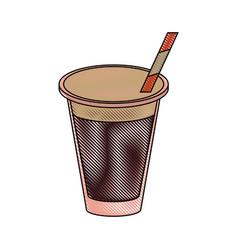 cola soda cup vector image