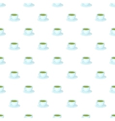 Cup of tea pattern cartoon style vector image vector image