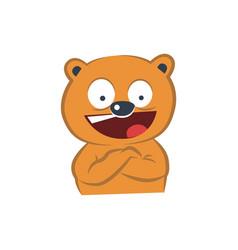 cute bear happy vector image vector image