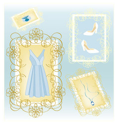 Fashion dress vector image