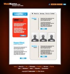 Futuristic style website template vector