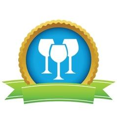 Gold stemware logo vector