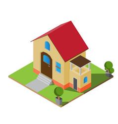 isometric twin house vector image