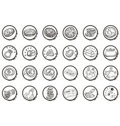Money buttons vector image