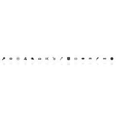 Optometry - flat icons vector