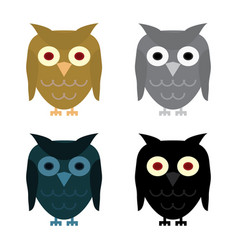 owl day night gray and halloween black owl vector image vector image