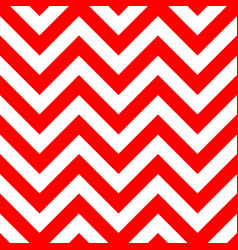 red and white zigzag seamless pattern vector image