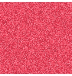 Red Handdrawn Roses Seamless Pattern vector image