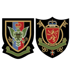 Royal emblem badge vector