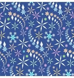 Seamless christmas pattern Crystal light vector image