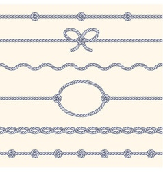 Set of rope borders vector image