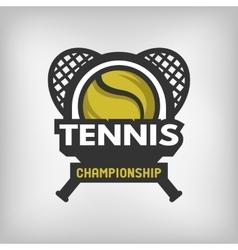Tennis sports logo vector image vector image