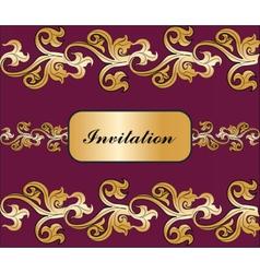 Vintage royal classic ornament invitation border vector